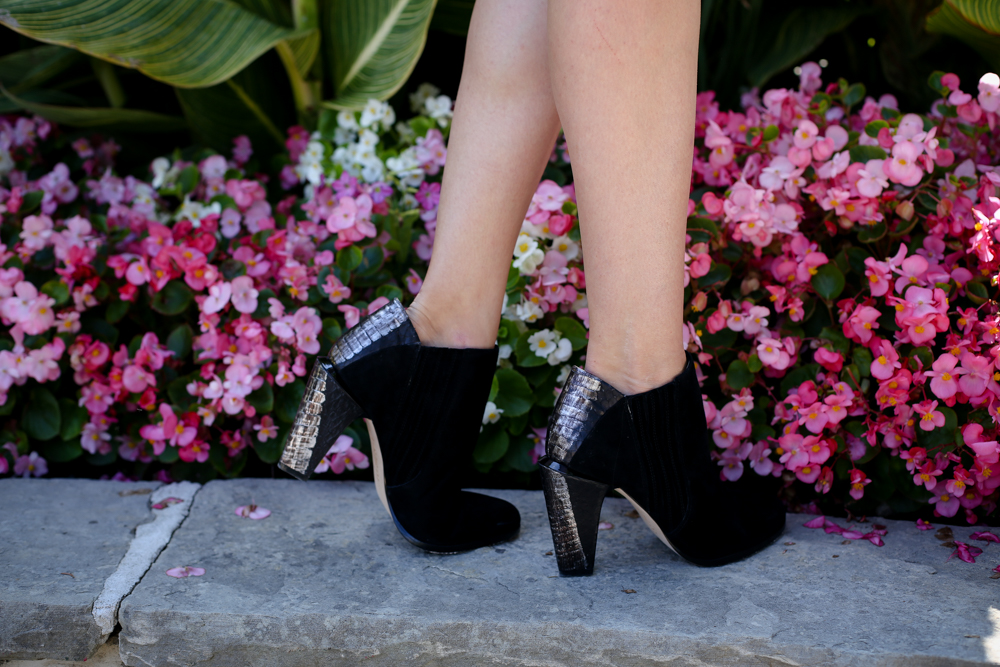 Black LAMB booties