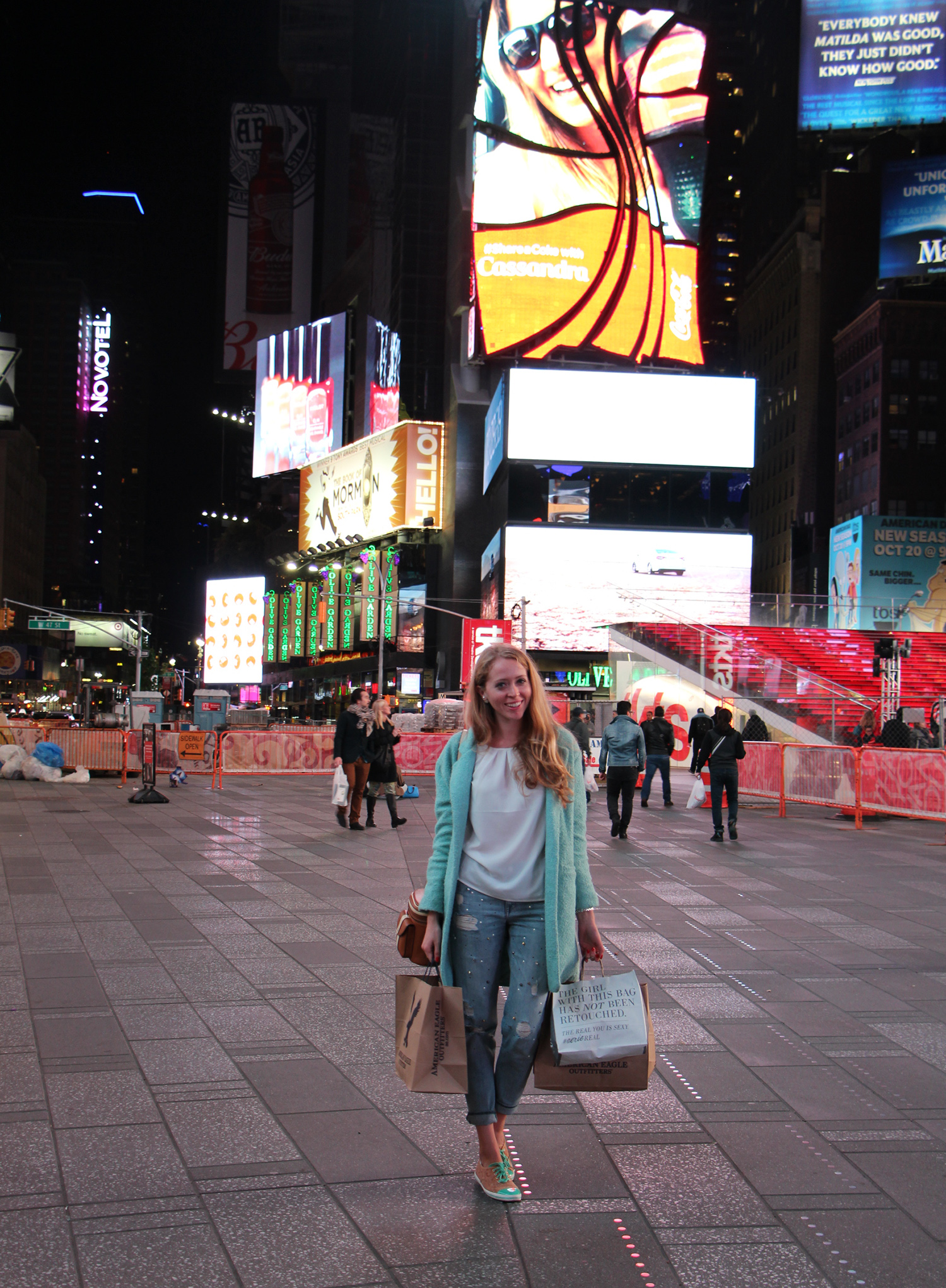 shopping in times square