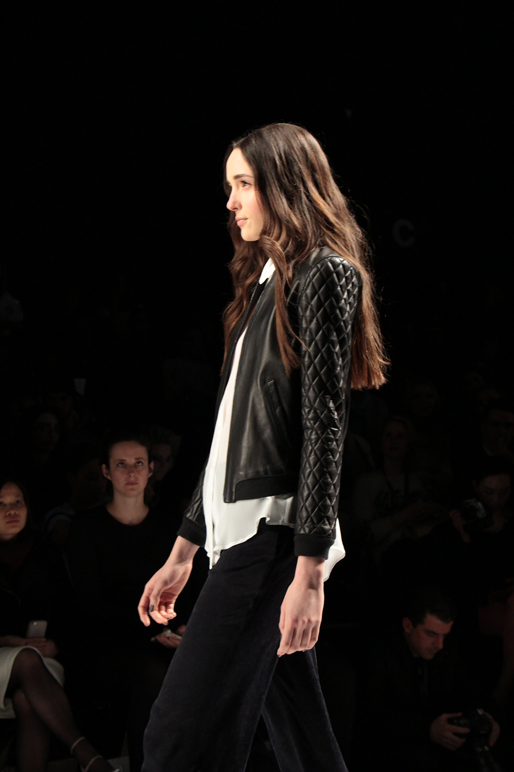 soia and kyo fall 2014 quilted leather jacket