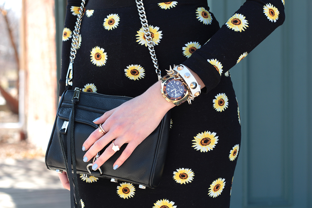 sunflower print minkoff mini mac