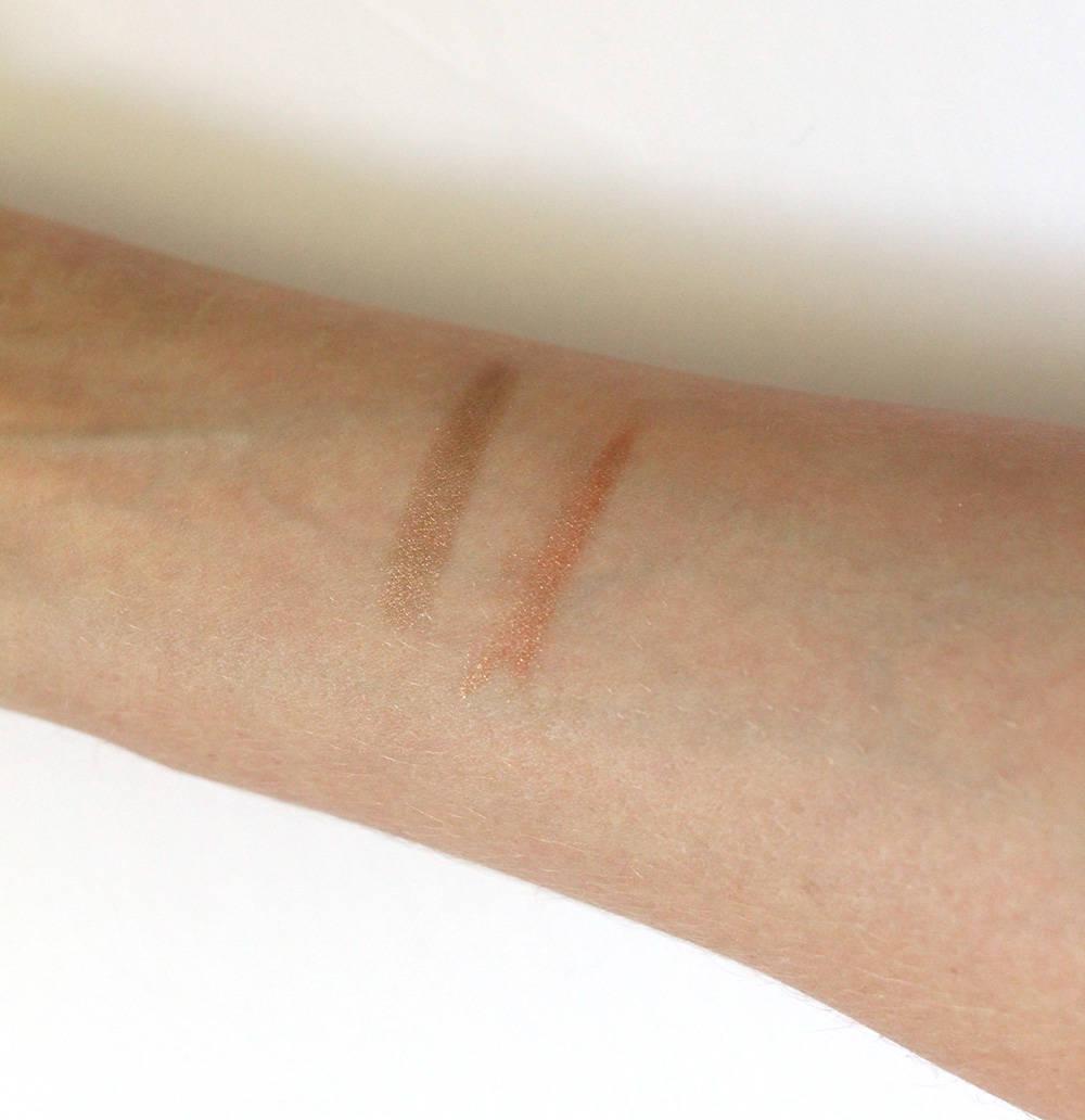 swatches clarins waterproof metallic eyeshadow