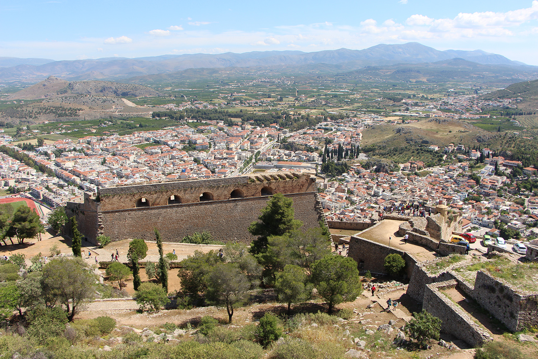 view of nafplio from palamidi