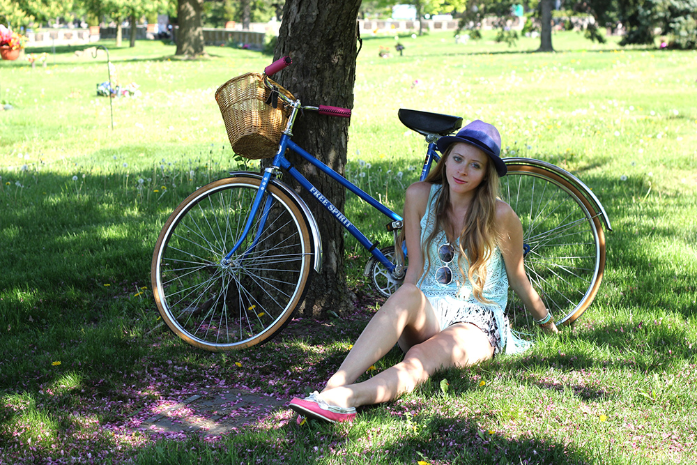 vintage bicycle fringe top