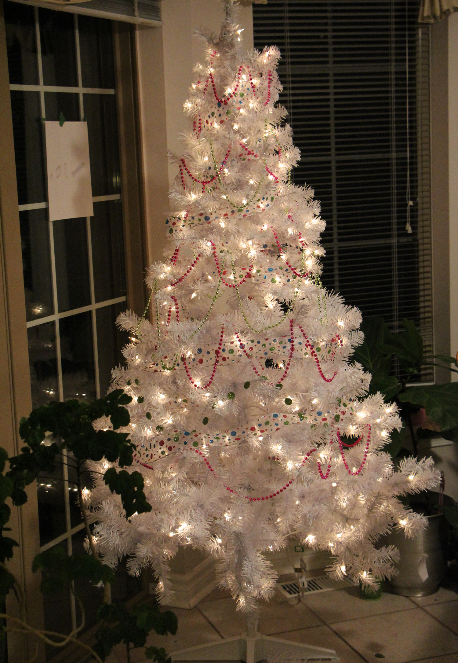 white christmas tree step 2