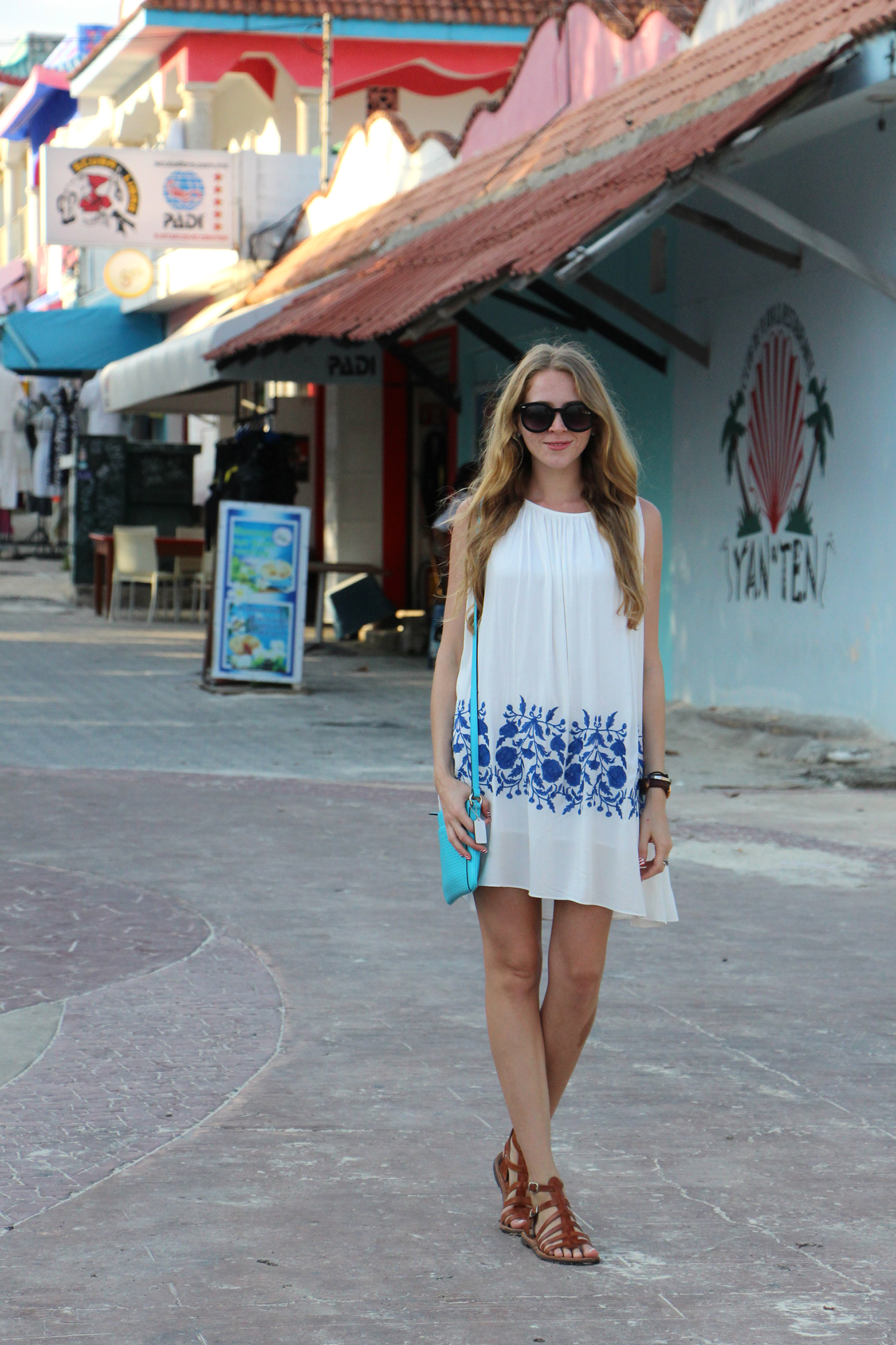 white embroidered sun dress