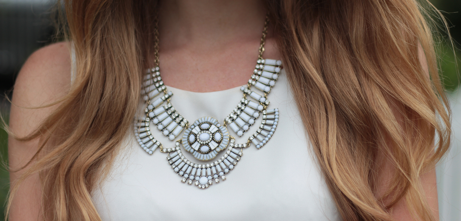 white jewelmint necklace