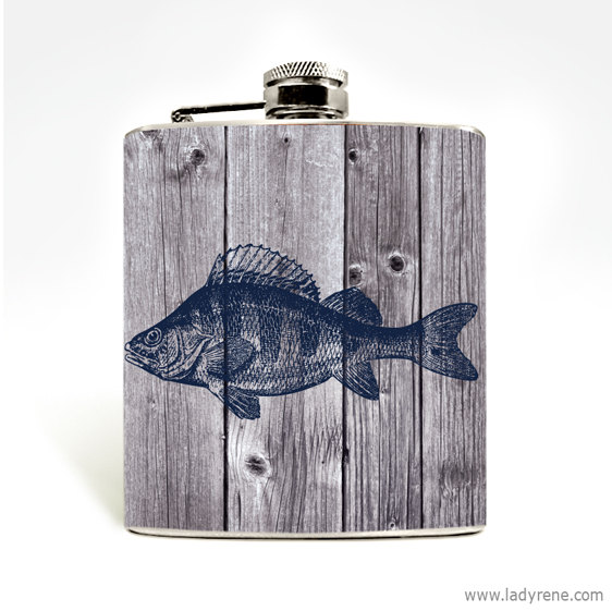 wooden fish flask father's day gift